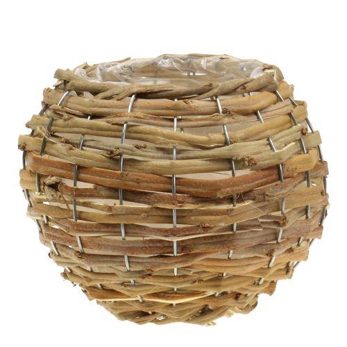 Basket ball for planting light brown Ø21cm