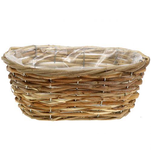 Basket bowl oval light brown L27cm