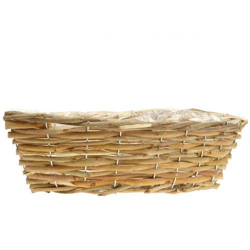 Basket ship for planting light brown L33cm
