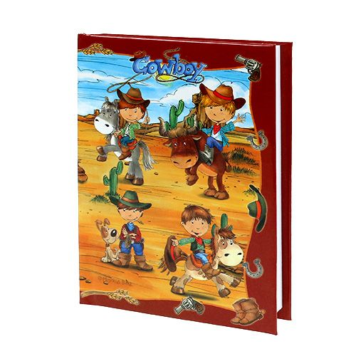 Notebook for boys Cowboy A6 1pc