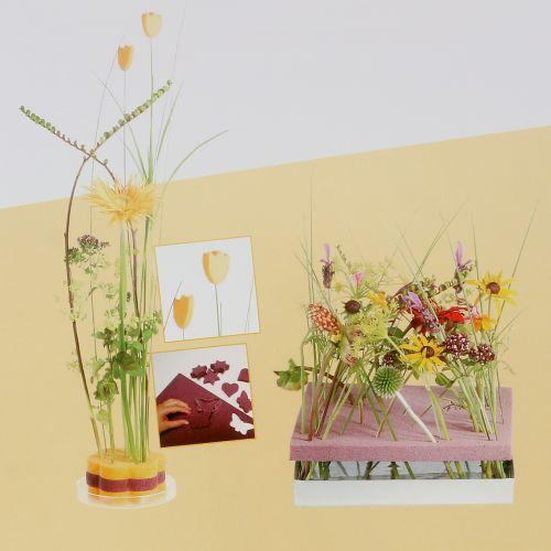 Floral foam designer panels plug-in size old rose 34.5cm × 34.5cm 3pcs