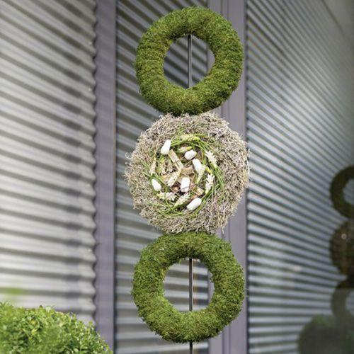 Floral foam ring wreath gray H3cm Ø20cm 6pcs