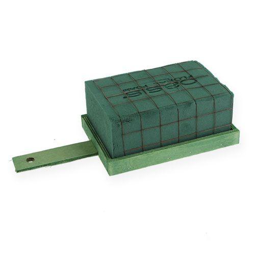 Floral foam brick green metal wood 4pcs arrangement base
