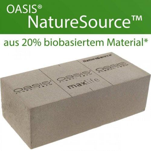 OASIS® NatureSource brick floral foam 23cm × 11cm × 7cm 10pcs