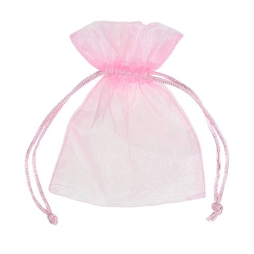 Organza bag pink 12x9cm 10pcs