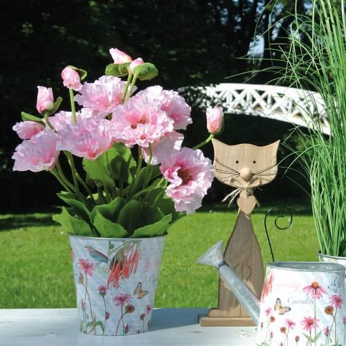 Oriental poppy, artificial flower, poppy in pink pot