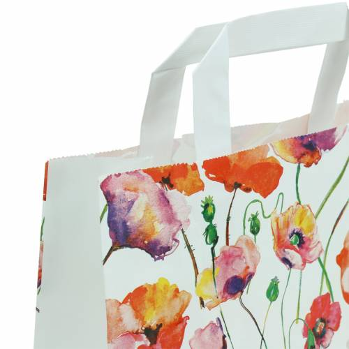 Paperbag poppy 22cm x 10cm x 28cm 25pcs