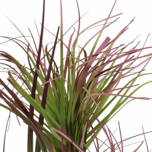 Artificial sedge grass in a pot Green, red purple 45cm
