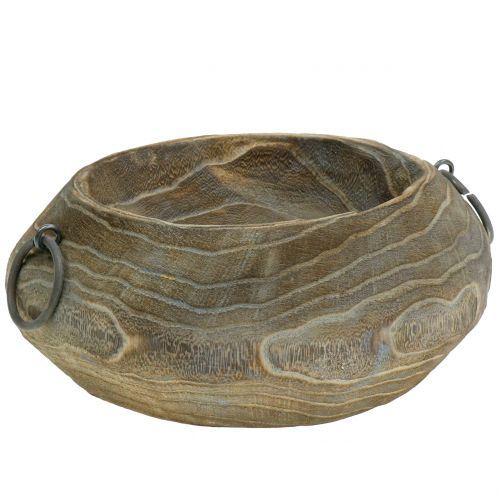 Deco bowl Paulownia wood 23cm x 21cm H9cmDeco bowl Paulownia wood 23cm x 21cm H9cm