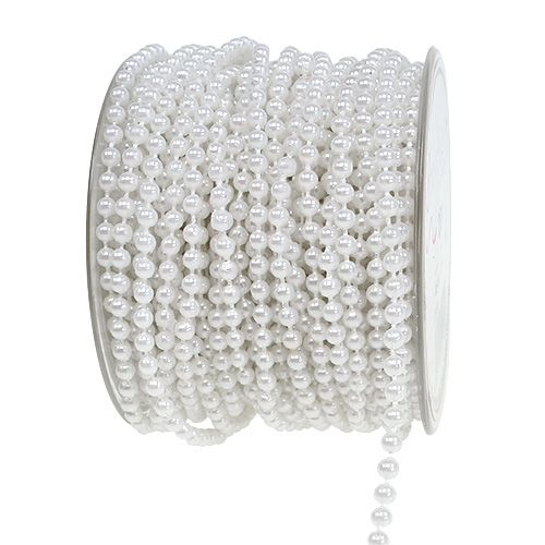 Bead tape white Ø4mm 20m