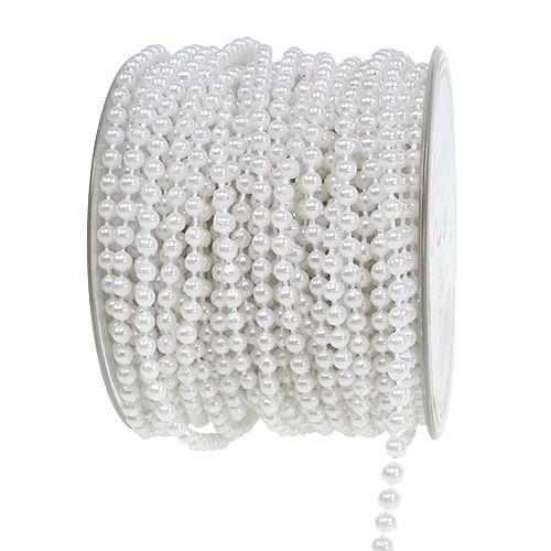 Bead tape white Ø4mm 20m