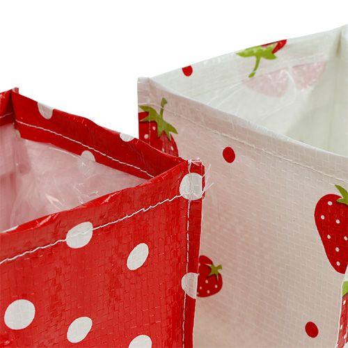 Plant box 10x10cm 8pcs Red/White