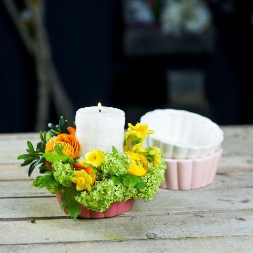Planter baking pan, cake pan for planting, ceramic pot H5cm Ø12.5cm 3pcs