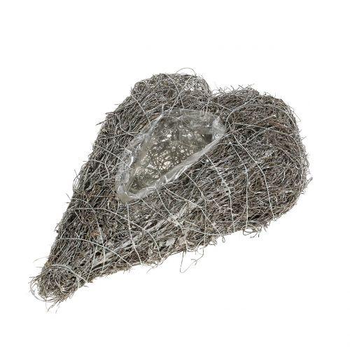 Plant heart of vine White 27cm x 17.5cm 1pc