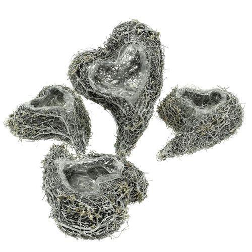 Plant heart vine 15cm x 23cm x5cm white 4pcs