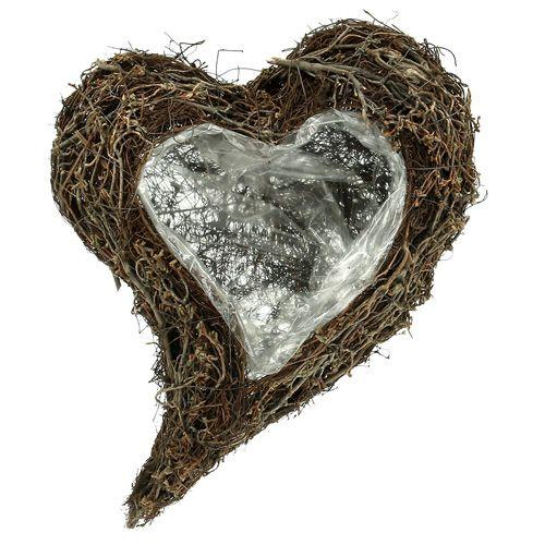 Plant heart from vine 30cm x 40cm x7,5cm nature