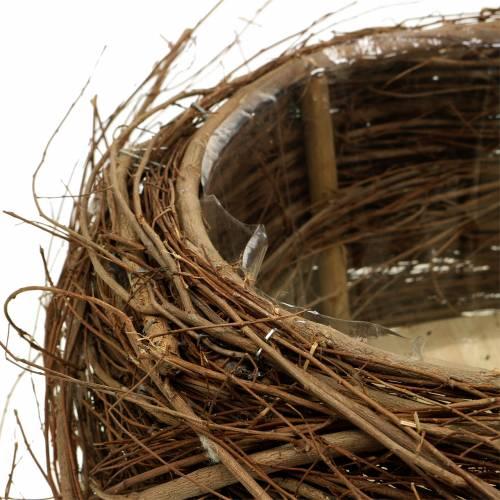 Plant Basket Vine and Branches Nature Ø37 / 28cm 2 piece set