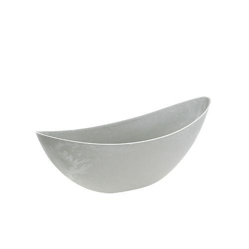 Planter 39cm x 12,5cm H13cm light gray, 1pc