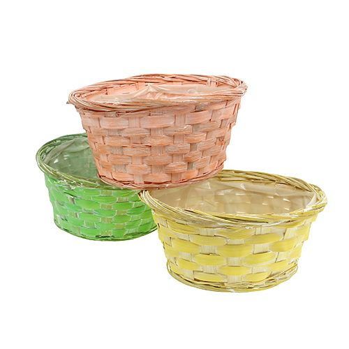 Planting bowl round Ø20cm assorted colors. 8st