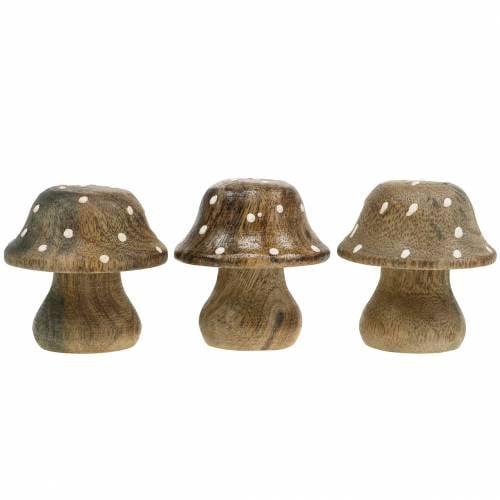 Deco mushroom wood nature 5cm 6pcs