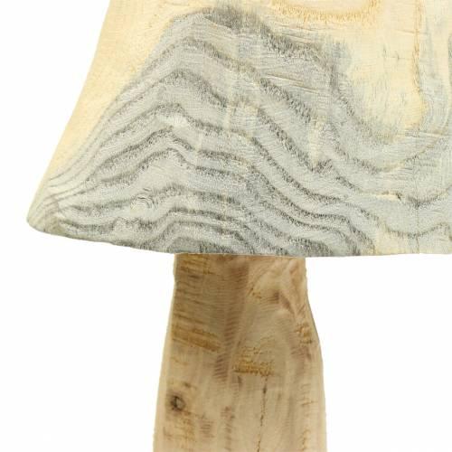 Mushroom pine wood Ø26cm H52cm