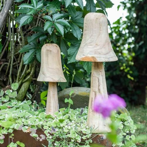 Mushroom pine wood Ø18cm H35cm
