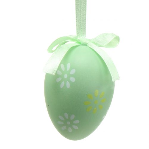 Easter eggs for hanging green, white, yellow 6cm 12pcs