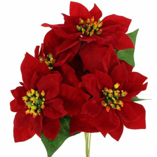 Poinsettia Bouquet Red Velvet 35cm