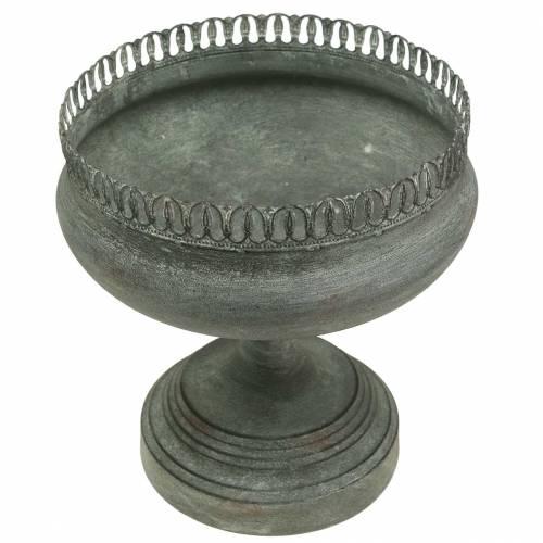 Planting cup goblet antique look gray Ø21cm H21cm