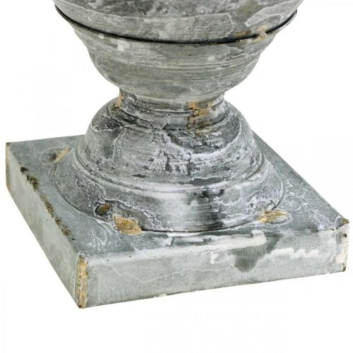 Shabby Chic Cup metal table decoration white washed Ø18-5 H29cm