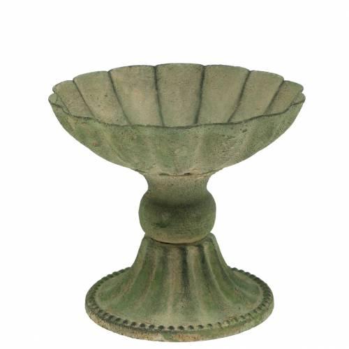 Cup bowl antique green Ø13cm H11,5cm