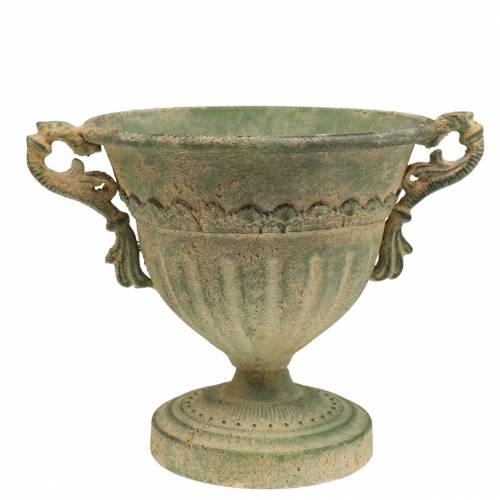 Cup Shabby Chic Green Ø19cm H18cm