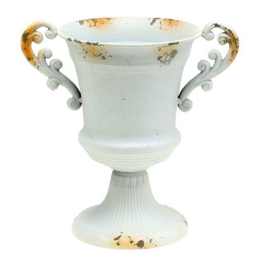 Cup antique white Ø16.8cm H24.8cm