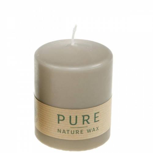 Pure pillar candle brown 90/70 candle sustainable stearin and rapeseed natural wax