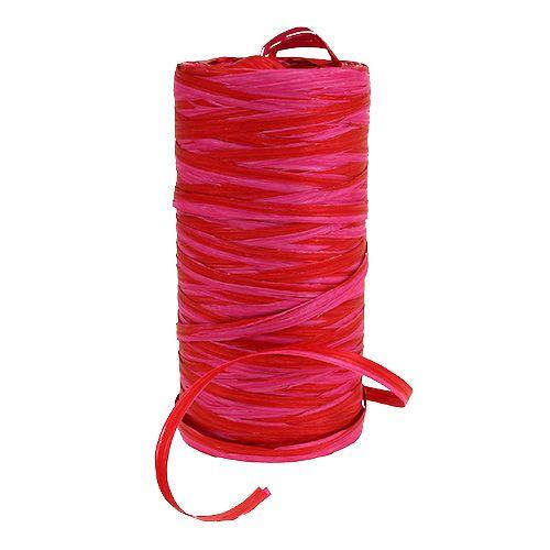 Raffia two-tone red-pink 200m