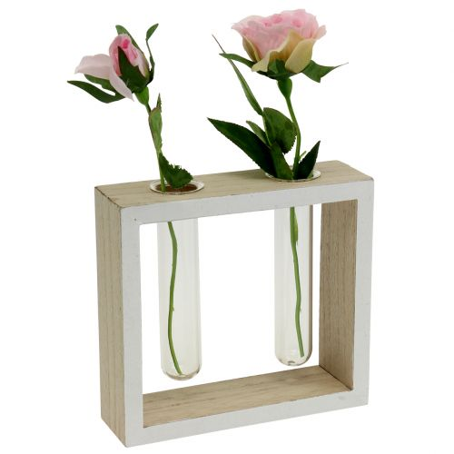 Test tubes in wooden frame 13cm x 12cm 2pcs