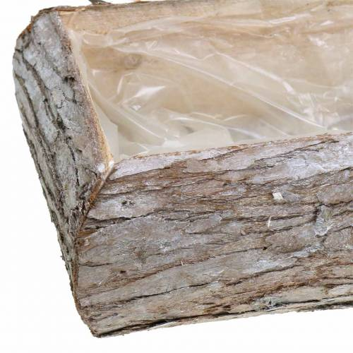 Planter wood washed white 34 × 17cm H9cm