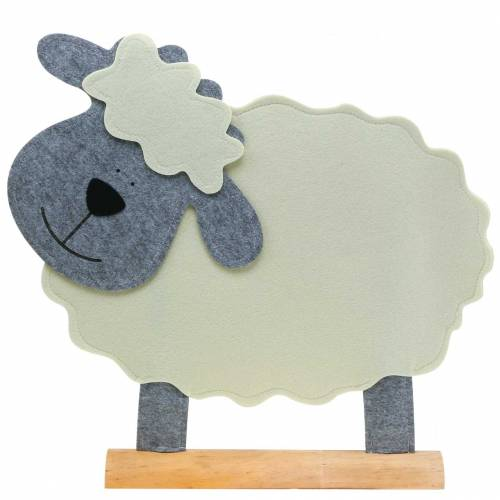 Sheep standing felt cream, gray 51 × 7cm H47cm