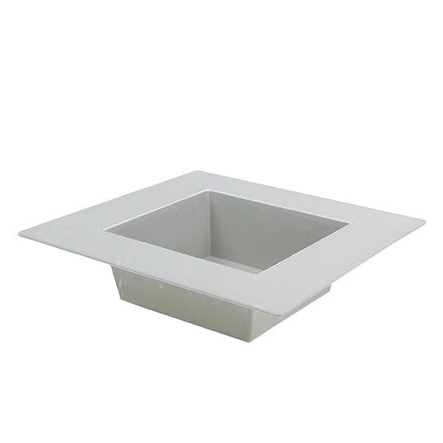 Square bowl Gray 20cm x 20cm, 1pc