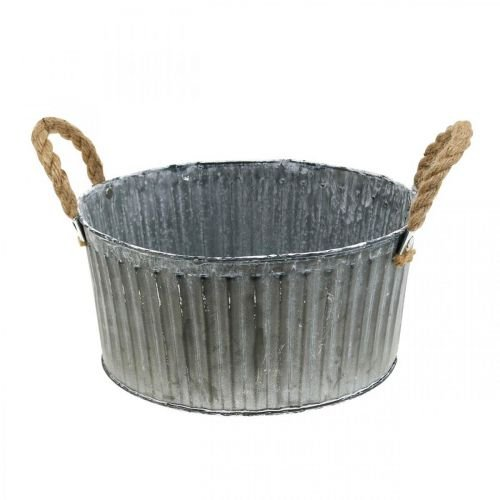 Decorative bowl, planter with handles, flower bowl for planting Ø25cm