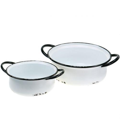 Vintage metal bowls Ø19,5cm - Ø 25cm 2pcs