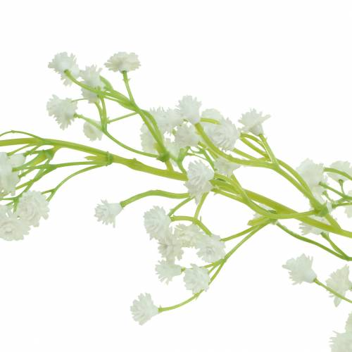 Wedding decoration garland gypsophila with eyelets white 180cm