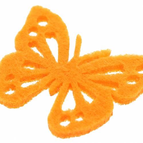 Felt butterfly table decoration Assorted 3.5 × 4.5cm 54 pieces Different colors