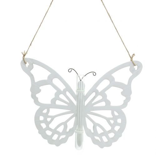 Butterfly with test tube for hanging 19x24cm 3pcs