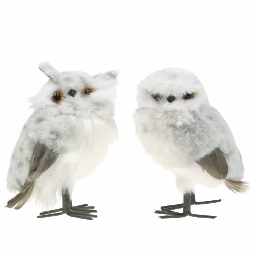 Snow Owls White 15cm 2pcs