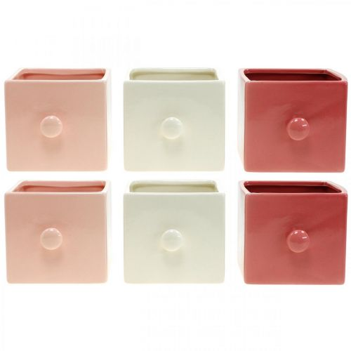 Plant drawer, decorative drawer, ceramic vessel, planter 6pcs