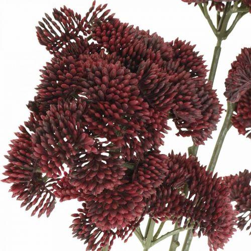 Sedum artificial red stonecrop autumn decoration 70.5cm 3pcs