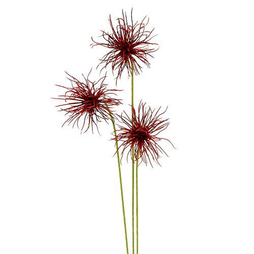 Silk Flowers Xanthium Bordeaux 64cm 4pcs