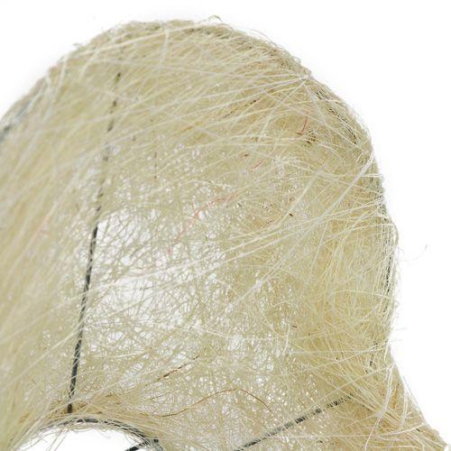 Sisal cuff heart 15cm x 19cm bleached 1pc
