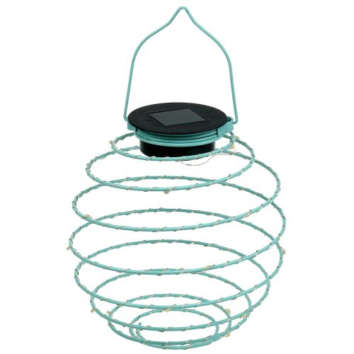 Solar garden light turquoise 22cm with 25LEDs warm white